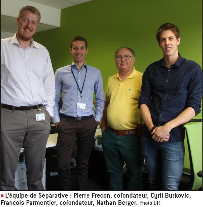 Separative : Pierre Frécon, Cyril Burkovic, François Parmentier, Nathan Berger - Photo DR ; Le Progrès - 19/09/17